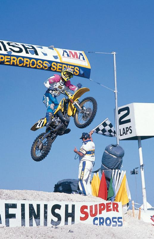 Denny Stephenson crushing the Daytona Supercross on an RM125.