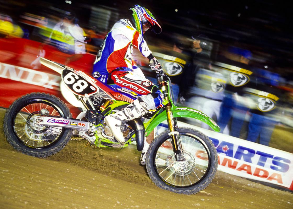 Matt Walker begged Mitch Payton for a shot on one of those mega-fast Pro Circuit KX125s. Wouldn't you?