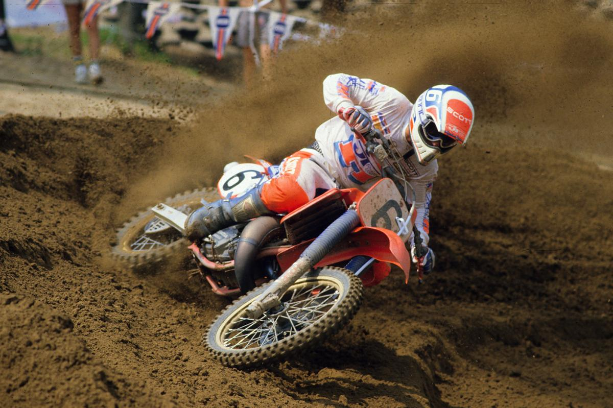 The Buckley Berm and David Bailey. One of the best motocross shots of all time.