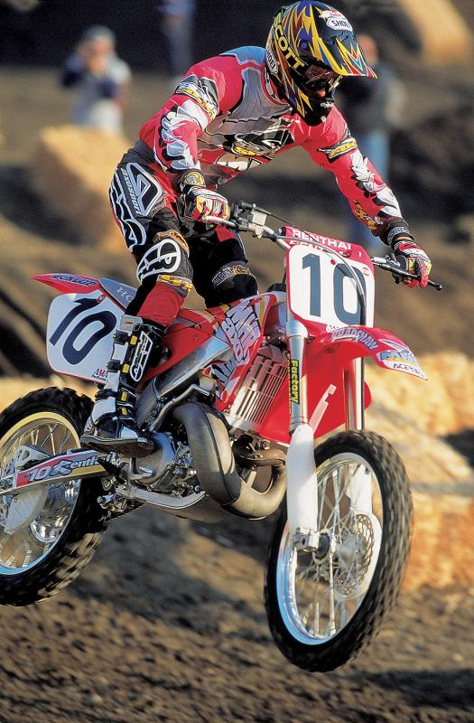 Bradshaw couldn't get back to his early 90s form on his 1997 Honda, but those early aluminum framed bikes sure looked cool.