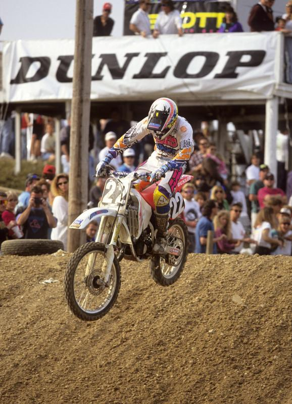 Erik Kehoe showing no mercy to the factory 125 pilots of 1993. He even beat Jeremy McGrath for one last glorious moto win.