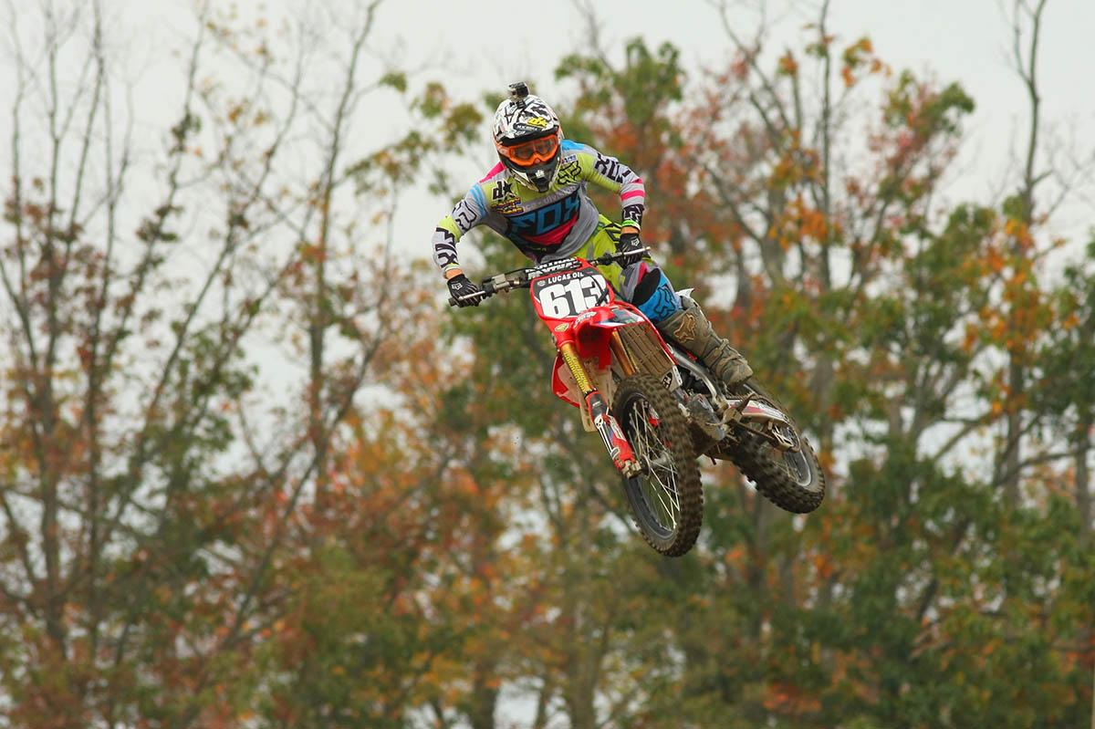 Jimmy Decotis has been a long time supporter of the KROC going back to his days on a mini. Decotis' results got better as the day went on as the popular New England rider scored three podium finishes in four motos. He was fourth overall in the 450 class and second in the 250s.