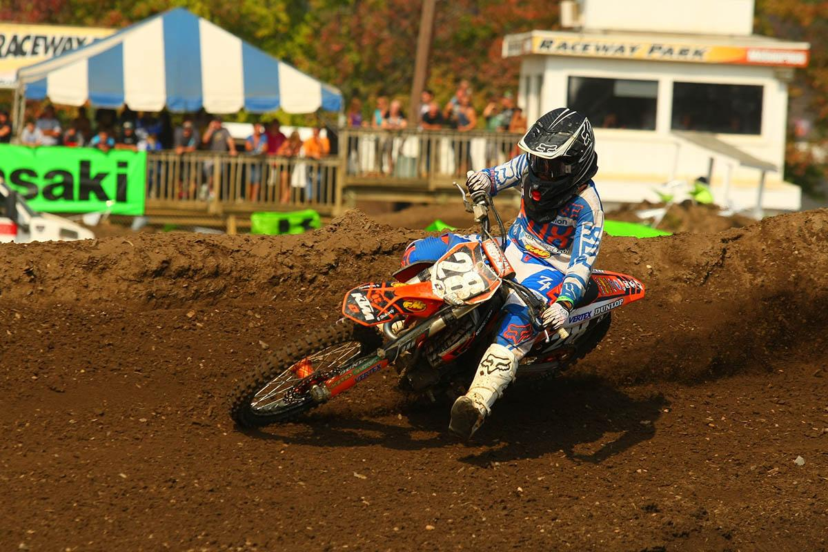 Despite having to race the entire moto in third gear due to a broken shift lever, Orange Brigade KTM rider Alexander Frye won the prestigious Ironman Classic moto. He also won the 250 Amateur class on Saturday.