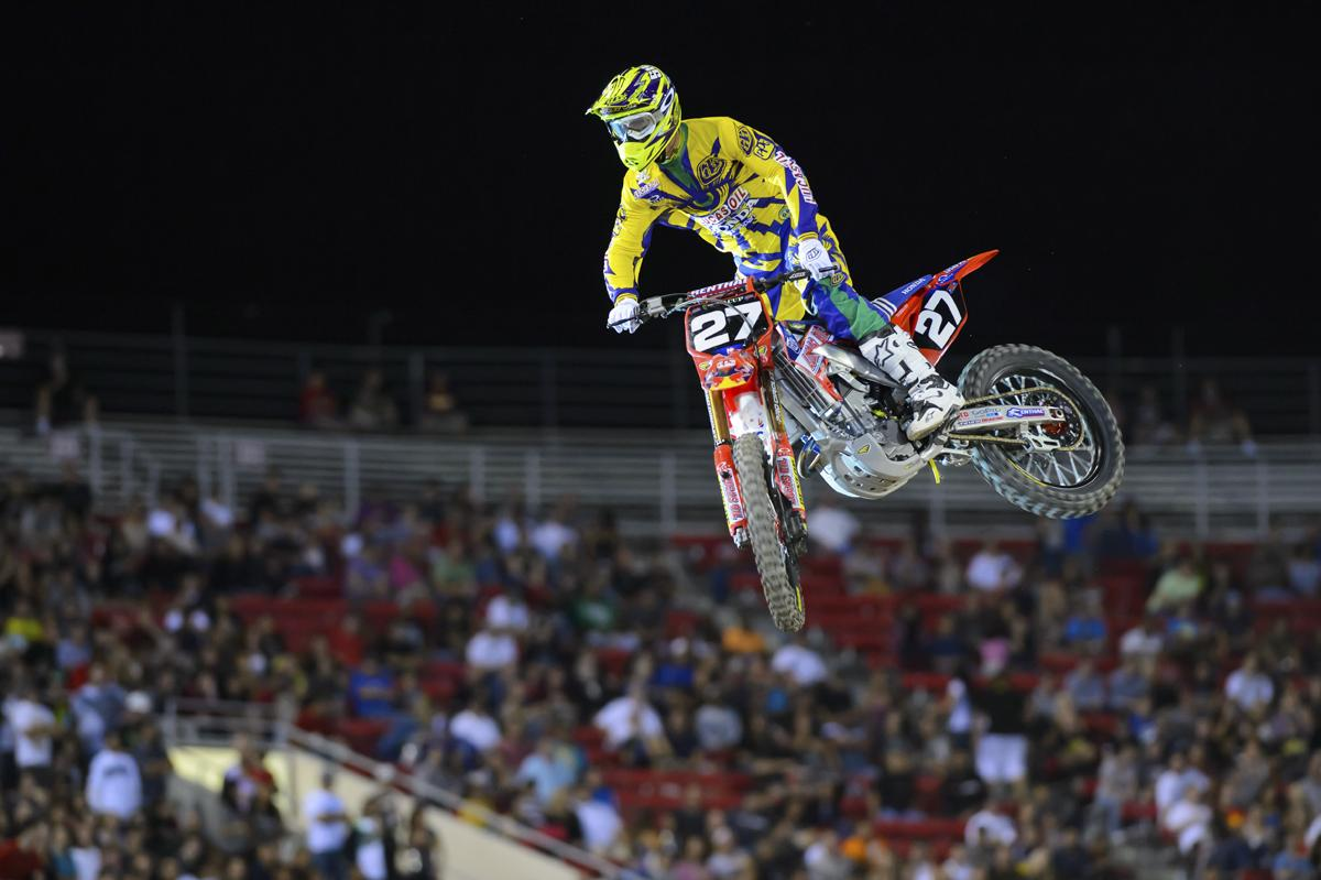 Shane McElrath, now a full-time pro with Lucas Oil/Troy Lee Designs Honda, was part of the Amateur All-Star roster.