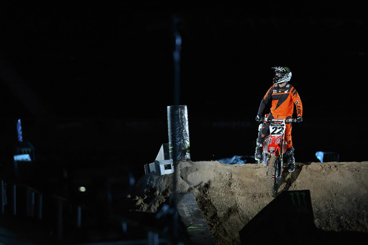 Chad Reed made his return from a devastating injury in supercross at the Monster Energy Cup.