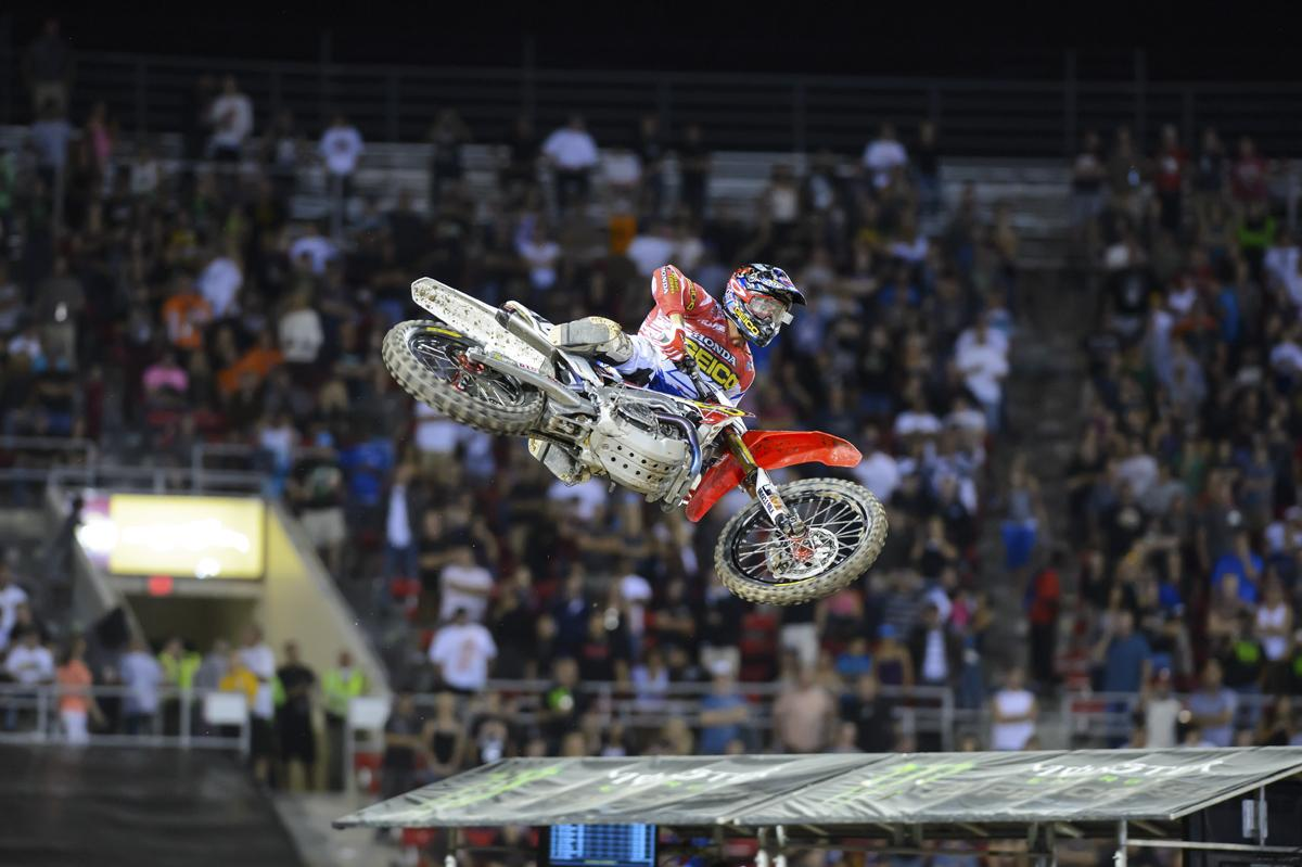Eli Tomac jumped on a 450....