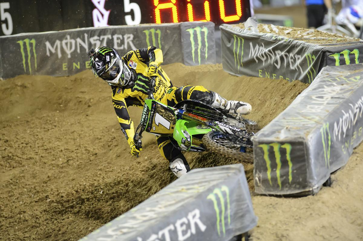 Ryan Villopoto returned from an ACL injury in supercross at the ME Cup.