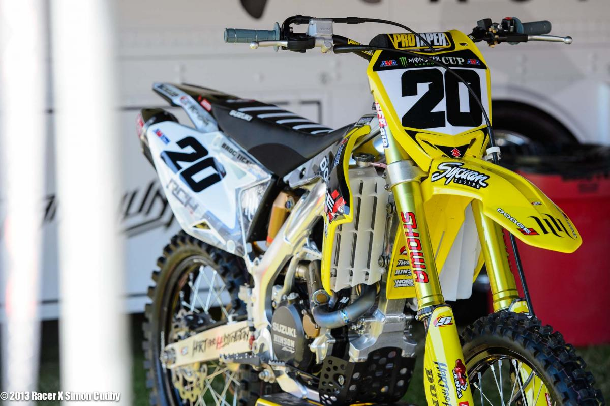 Broc Tickle's RCH Suzuki