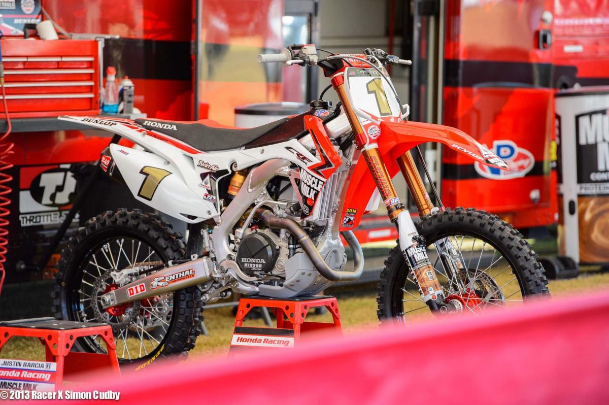 Justin Barcia's Honda 450