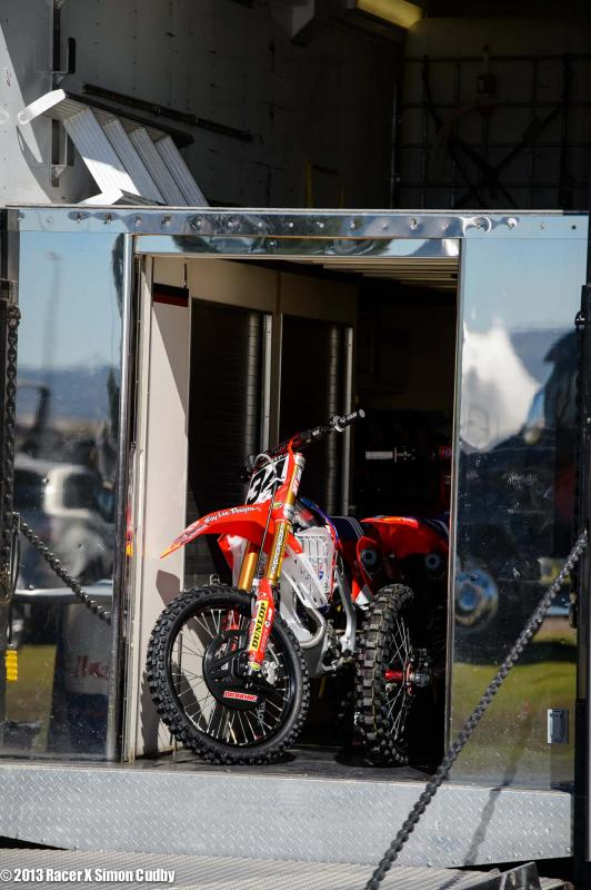 Troy Lee bikes ready to be unloaded