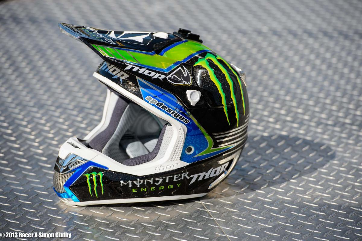 Ryan Villopoto's Thor helmet