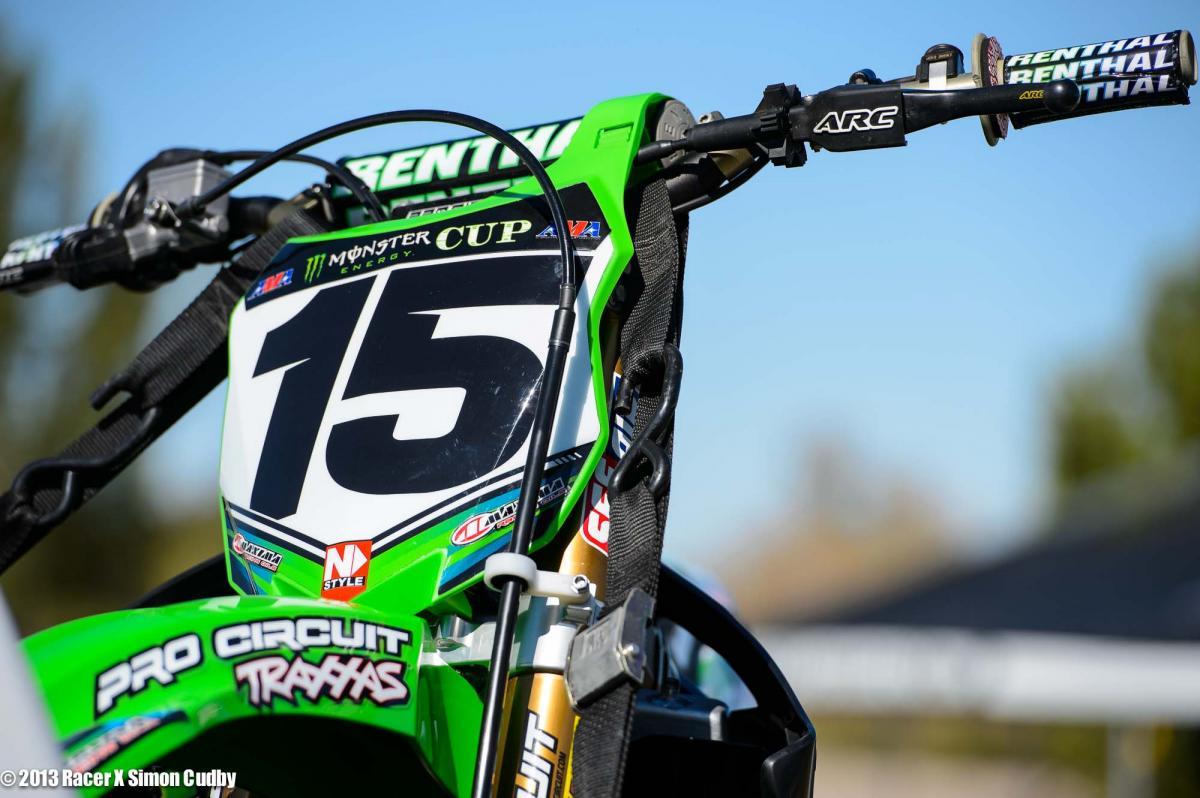 Dean Wilson's #15 Pro Circuit Kawi