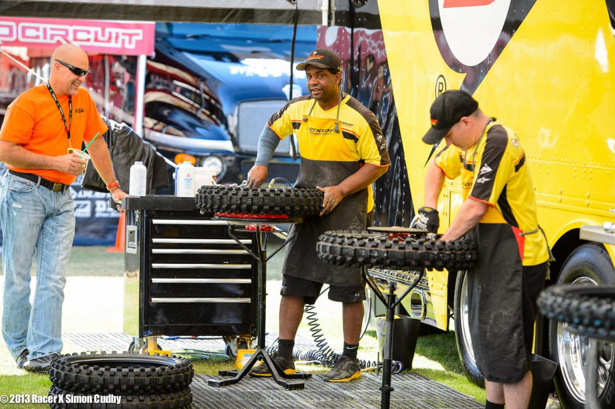 Dunlop guys hard at work