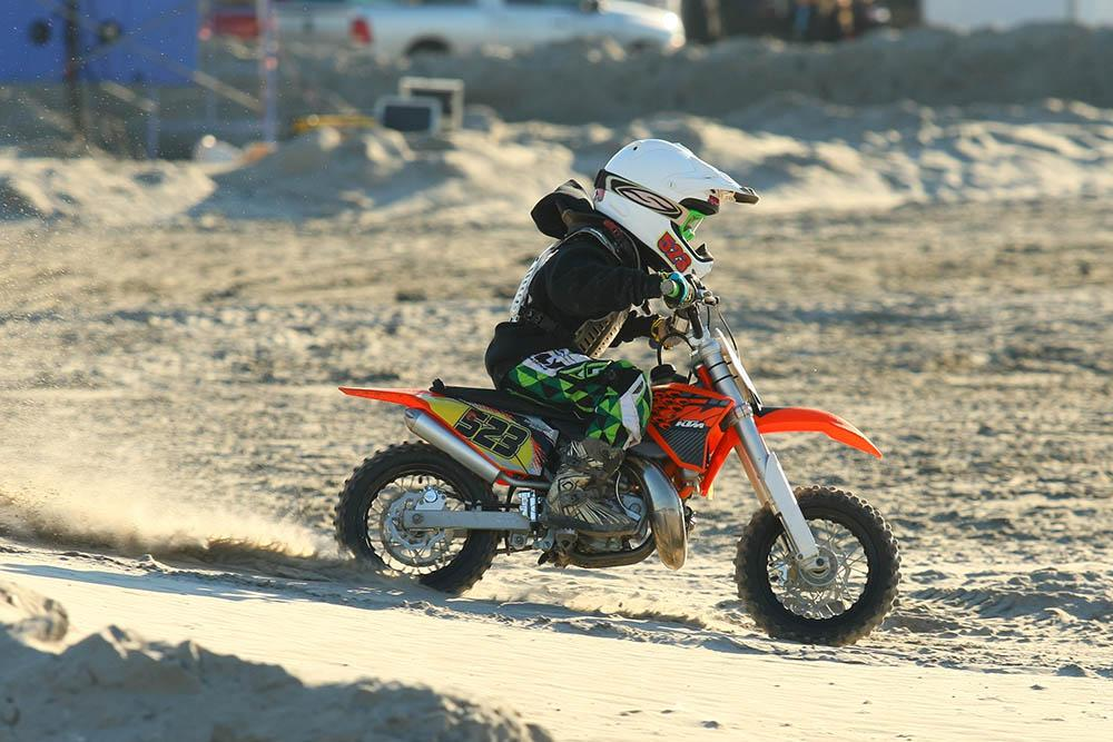 The youngest racers are welcome at the Brawl on the Beach. Jeffrey Dunham won the 50cc oil injected 4-6 class and was second in the 50cc Stock 4-6 class. / Scott Lukaitis photo