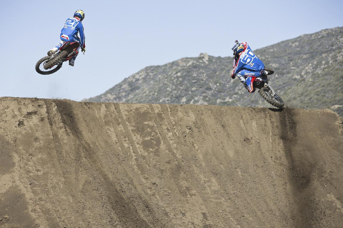 TLD Honda teammates Cole Seely and Jessy Nelson.