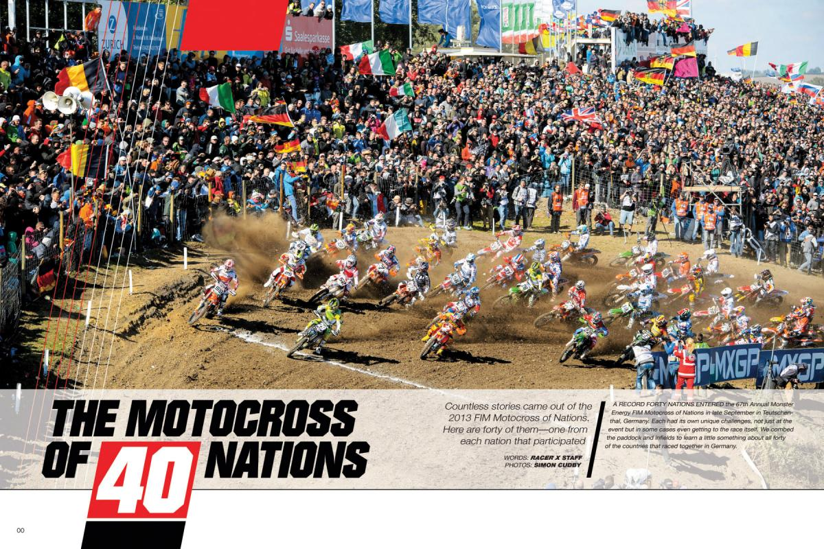 THE MOTOCROSS OF 40 NATIONS