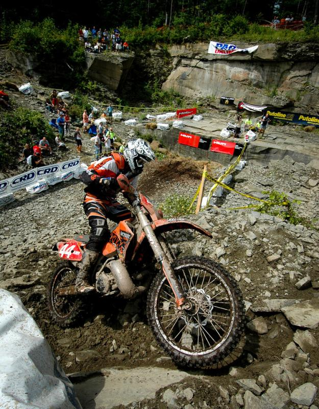 Over the year's Kurt Caselli competed in various World Enduro Championships, now known as the Enduro World Championships, here he competes in Hancock, New York, in 2006.