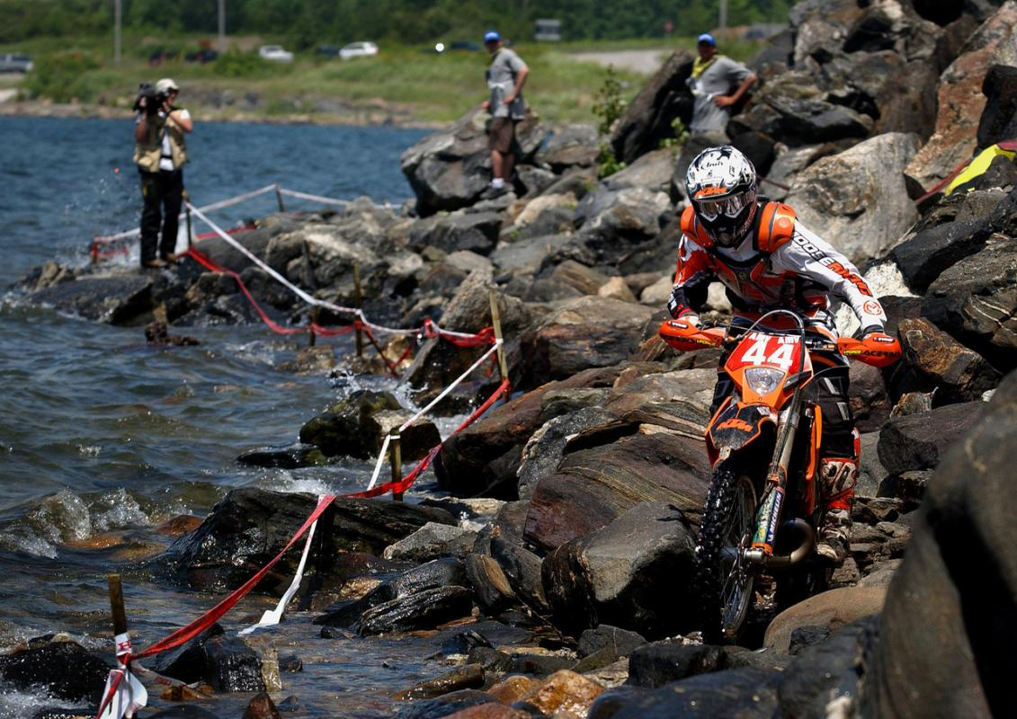 Kurt Caselli competes in the World Enduro Championship round in Parry Sound, Ontario, Canada in 2006.