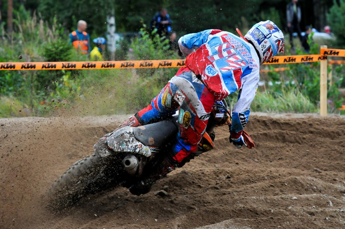 Kurt Caselli rode to a first place E2 class finish during the 2011 ISDE held in Finland. Caselli finished in fourth place overall helping the US Team to a third place on the podium.