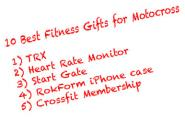 Top 10 Fitness Gifts for Motocross