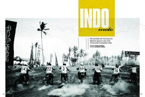 Deus Slidetober is an annual surfing-meets-moto event held in Bali, Indonesia. This is what surfercross in paradise looks like. Page 132.