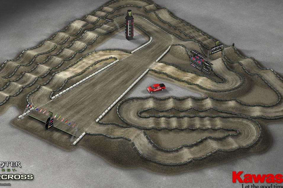 Anaheim 1 Animated Track Map