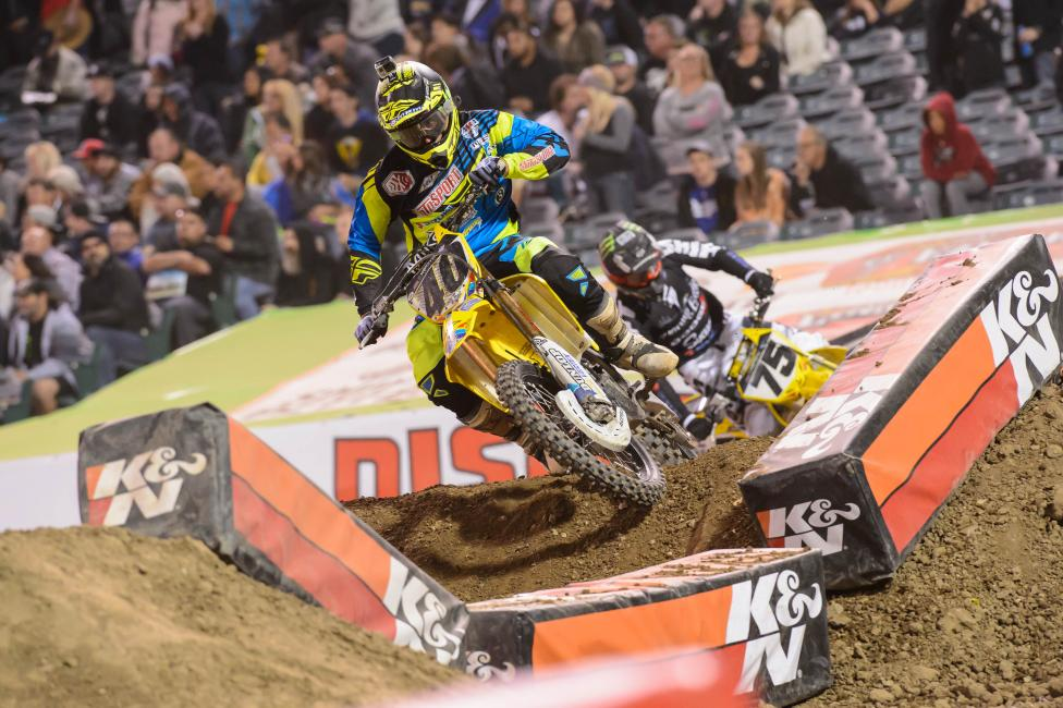 Weston Peick matched a career high in Anaheim. Photo: Simon Cudby