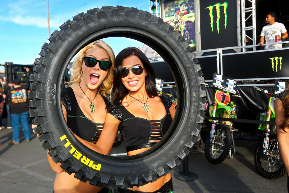 Pirelli is the official tire sponsor of Monster Energy Supercross. Photo: BrownDogWilson