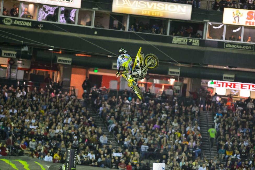 No whips for the GOAT in Oakland. He will be in Greensboro for Amsoil Arenacross.