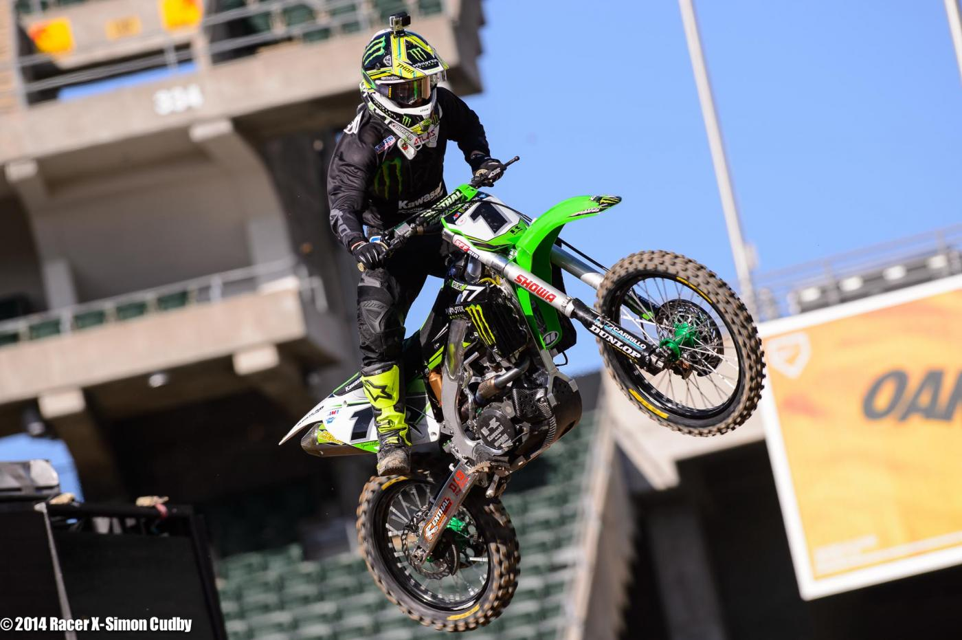 Villopoto likes the track here in Oakland.Photo: Simon Cudby