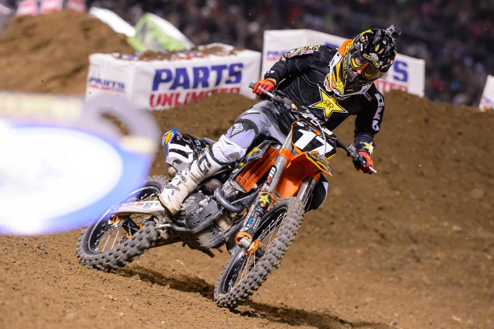 Jason Anderson pulled off another late race win in Oakland. Photo: Simon Cudby