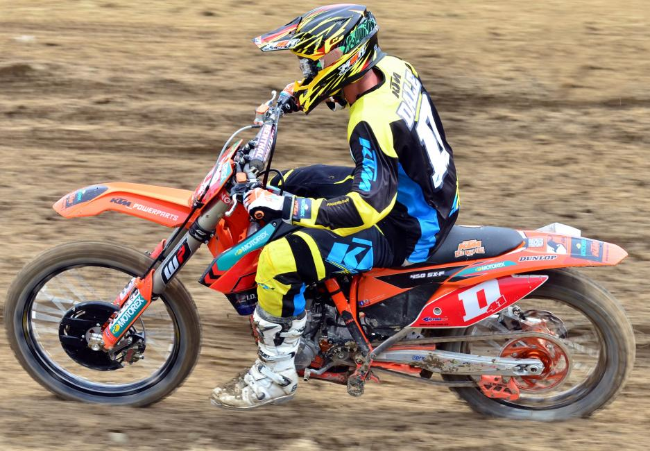 Ford Dale finished fourth overall in MX1. Photo: KTM Images