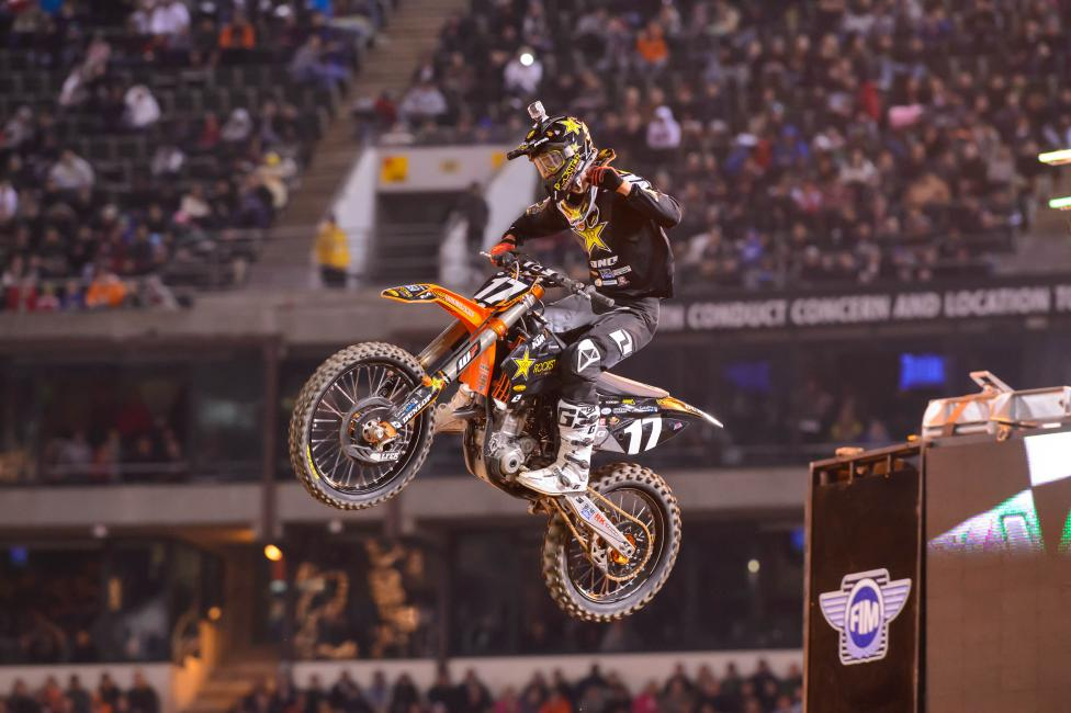 Jason Anderson claimed another dramatic win in Oakland—his third of the season. Photo: Simon Cudby