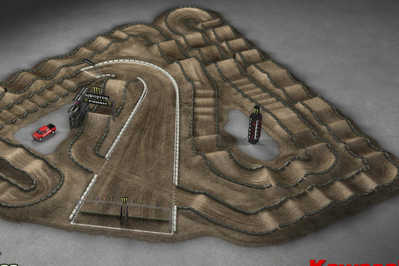 Anaheim 3 Animated Track Map