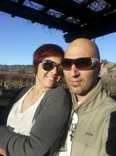 """Kathleen and I at Navarro Winery...""Photo: Michael Brandes"