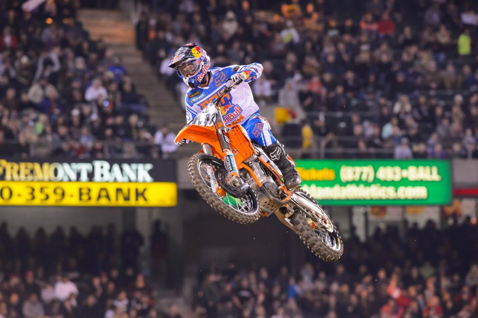Ryan Dungey is still looking for his first win of the season. Photo: Simon Cudby