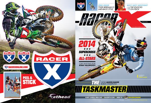 Get your Racer X wall-cling at Anaheim. Photo: Simon Cudby/Garth Milan