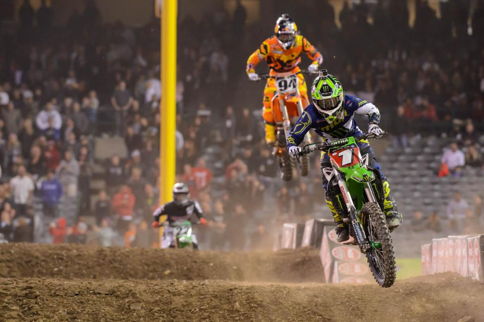 Ryan Villopoto is looking to tame Anaheim for the first time this season.  Photo: Simon Cudby