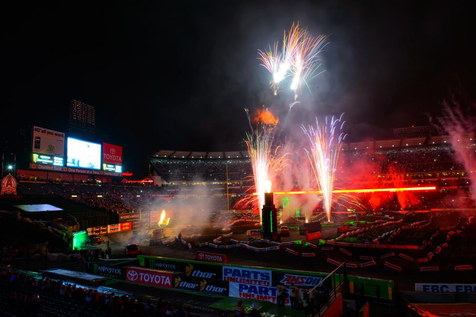 Monster Energy Supercross returns to Anaheim for the third and final time this season. Photo: Simon Cudby
