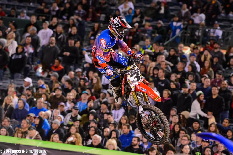 Eli Tomac looked good, but not spectacular, in his return from a shoulder injury. A flat tire led to a DNF in the main.