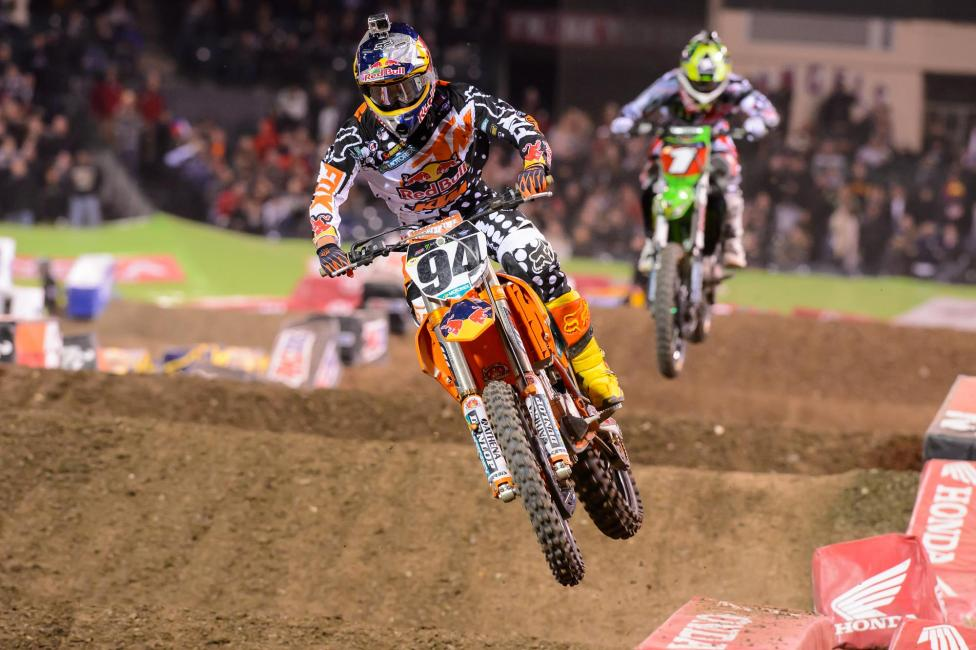 Ken Roczen finished second behind Chad Reed. Photo: Simon Cudby