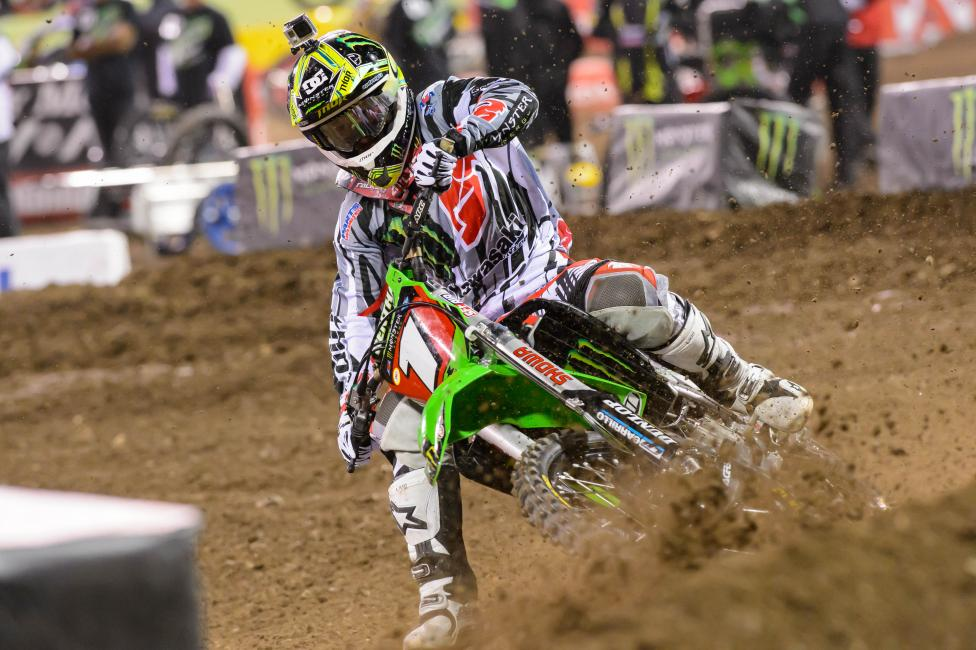 RV went 0-for-3 in Anaheim, but still maintains the 450 points lead.  Photo: Simon Cudby