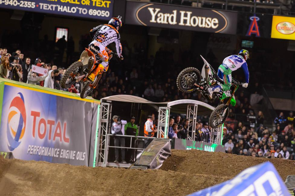 Reed (22) and Roczen (94) battled it out for the win at A3.