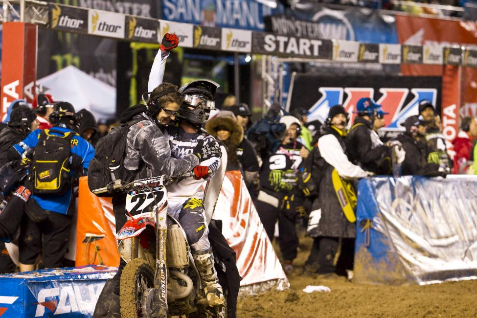 Chad Reed got his first victory as a team owner in San Diego in 2011. Photo: The Medium Group