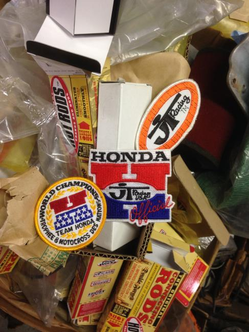 Random finds on the shelves of Keith Lynas' vintage garage. Photo: DC