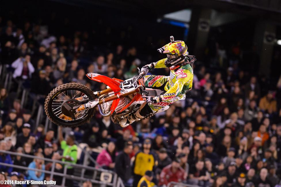 Justin Barcia is at least showing flashes of the speed everyone expected him to have all season. Another so-so start and a small crash held him back.