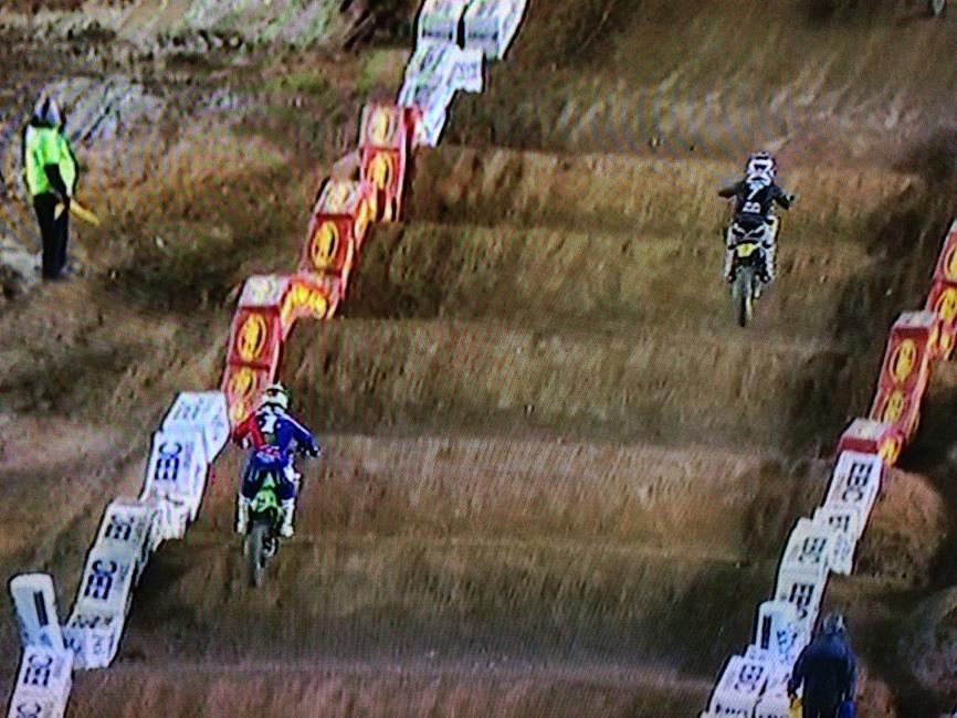 As you can see, James Stewart was moving back to the right through the whoops so he was set up better for the impending left hand turn.