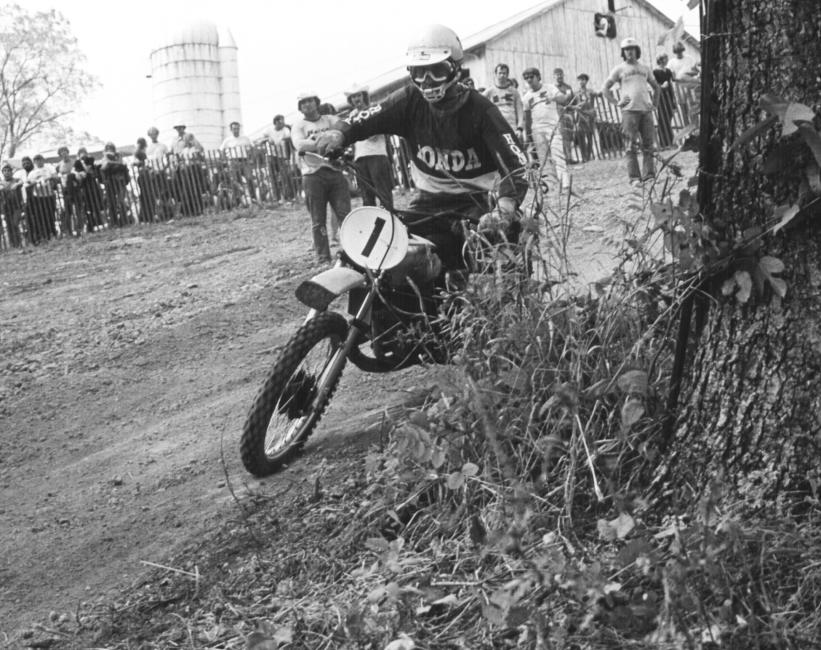 Gary Jones won a national in 1973 and his brother Dwayne finished second.Photo: Racer X Archives