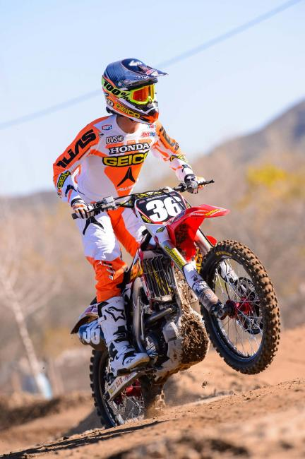 Wharton returns to GEICO Honda following two years with Rockstar Energy Racing.