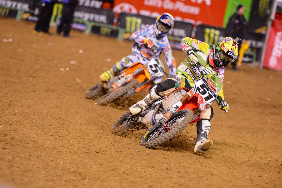 Barcia (51) and Dungey look to return to podium form in Dallas.  Photo: Simon Cudby